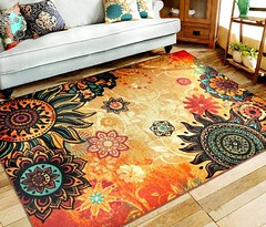 EUCH Contemporary Boho Retro Style Abstract Living Room Floor Carpets,Non-Skid Indoor/ Outdoor Large Area Rugs, Lotus (katalaynet) Tags: follow happy me fun photooftheday beautiful love friends