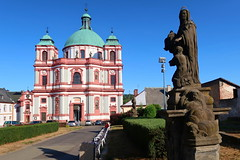 Basilica minor of St. Lawrenc and St. Zdislava (ZdenHer) Tags: basilica minor st lawrenc zdislava church statue sky gras architecture czechrepublic canonpowershotg7xmarkii