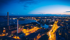 Hanasaari (miemo) Tags: dji europe finland mavic2 mavic2pro aerial autumn city drone dusk evening hanasaari helsinki kruununhaka merihaka night outdoor powerplant road sky street uusimaa fi
