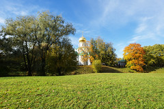 Feodorovsky   Cathedral. Autumn sunny day. (fedoseenko) Tags: санктпетербург россия красота colour природа beauty blissful loveliness beautiful saintpetersburg sunny art shine dazzling light russia day green park peace garden blue white голубой небо лазурный color sky pretty sun пейзаж landscape clouds view heaven mood summer serene golden gold gate colours picture hall road tree grass nature alley history trees tsar stairway walkway field autumn river lake water reflection outdoors old d800 wood cathedral church cupola holy orthodox path religion building foliage 1735mmf28d