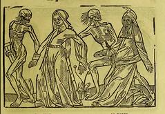 This image is taken from Page 31 of La grande danse macabre des hommes et des femmes : précédée du dict des trois mors et dfs [!] trois vifz, du Débat du corps et de l'ame, et de La complaincte de l'ame damp (Medical Heritage Library, Inc.) Tags: dance death wellcomelibrary ukmhl medicalheritagelibrary europeanlibraries date1862 idb24877402
