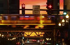 Orange Purple Line Train (rjseg1) Tags: chicago loop elevated l train transportation city urban sunset