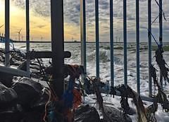 aufgebrachte See (lotharmeyer) Tags: clouds gischt sea ocean water meer brandung wellen nature licht sky westenschouwen holland zeeland himmel