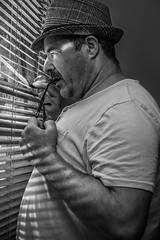 Marc (lizard.land) Tags: eos canon 6d eos6d 50mm ƒ14 50mmƒ14 man blackandwhite hat glasses inspector light window