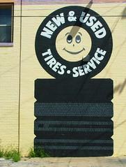Advertising Graphics (jHc__johart) Tags: advertisement wall tireimage paint paintedadvertisement kansas window