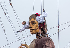 Lilliputians and The Giant, New Brighton (Philip Brookes) Tags: giant giantsspectacular merseyside wirral newbrighton puppet lilliputian uk england britain mechanical people workers ropes chains