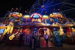 0928 Big ferris wheel behind fun house at the fair