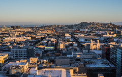 soma rooftop's sunset (pbo31) Tags: sanfrancisco california nikon d810 color city urban october 2018 boury pbo31 fall skyline civiccenter over view sunset orange soma roadway rooftops siemer