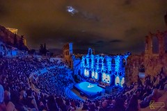 Odeon of Herodes Atticus (Kostas Trovas) Tags: athens eveninglight fullmoon greece moon odeon odeonofherodesatticus parthenon theater wonderoftheworld ancientgreece cityscape clouds colors historical illumination landscape mariadebuenosaires minimalist night nightphotography overcast performance portrait scenery show sky tango temple tourist woman