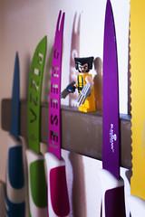 Blades (robbi falz) Tags: coltello knife blades lego marvel volverine adamantio cucina cooking pane pizza colori pentax pentaxiani x men xmen cartoons fumetti story
