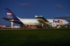 N719FD FedEx Express A300B4-622F at KCLE (GeorgeM757) Tags: n719fd fedexexpress aircraft alltypesoftransport aviation airplane airport airbus airfreight a300 a300b4622f kcle clevelandhopkins georgem757 nikon nightairplane hl7290