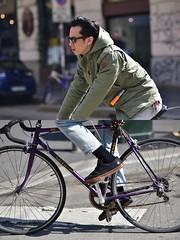 [La Mia Città][Pedala] (Urca) Tags: milano italia 2018 bicicletta pedalare ciclista ritrattostradale portrait dittico bike bicycle nikondigitale scéta 115916