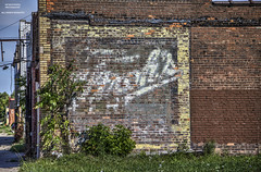 America's Faded - An Update (DetroitDerek Photography ( ALL RIGHTS RESERVED )) Tags: allrightsreserved 313 detroit motown michigan local sign ad advertisement strosh icecream americasfavorite faded worn weathered painted ghostsign brick wall abandoned building blight bleak decay urban urbandecay midwest usa america hdr 3exp canon 5d mkii digital eos detroitderek motorcity