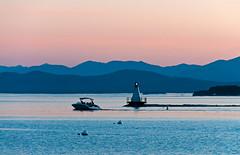 Lake Champlain Pastel (Erie Limited) Tags: lake lakechamplain burlingtonvt sunset bluehour thebluehour