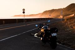 _A280019 (kanata-t) Tags: バイク 夕日 海 風景
