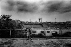 Way home 641 (soyokazeojisan) Tags: japan osaka bw city street people blackandwhite monochrome analog olympus m1 om1 21mm film trix kodak memories 1970s