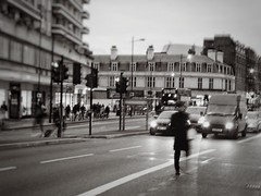 The Races at Finchley Road (marc.barrot) Tags: traffic dusk rain runner streetphotography uk nw3 london swisscottage finchleyroad