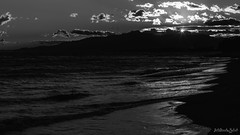 Posta de Sol estrellat (steelmancat) Tags: start sun sunset cambrils costa daurada platja landscape paissatge catalunya goldencoast bn bw