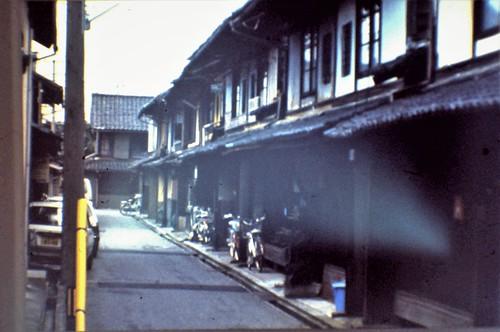 Row houses (naga-ya) in Takefu (Echizen city)