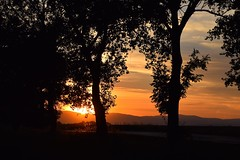 summer moods (JoannaRB2009) Tags: summer mood evening twilight nature landscape view trees dark silhouettes hills mountains sudety sunset sun sky clouds colours lowersilesia dolnyśląsk polska poland