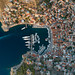 Aerial of Hydra town Greece, Greece
