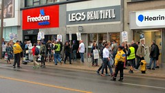 020 -1crpvibfwlcon (citatus) Tags: labour labor demonstration toronto mayor john tory reelection offices police tps traffic sidewalk road street yonge st clair avenue east canada fall afternoon 2018 pentax k3 ii cne canadian national exhibition