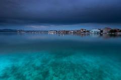 Betina blues (snowyturner) Tags: croatia betina island murter adriatic sea water village twilight clouds reflections