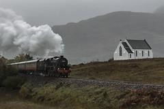 Steam Train in the Rain (Hobo50) Tags: steamtrain train steam landscape scapes scottishscenery scottishlandscape scottishlandscapes scottishhighlands
