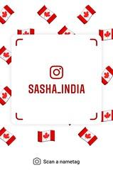 example of nametag for Instagram (Sasha India) Tags: instagram nametag instatag tag name sashaindia дизайн qrcode design 設計 디자인 التصميم σχέδιο डिज़ाइन வடிவமைப்பு desenhar projekt עיצוב desain flag canada