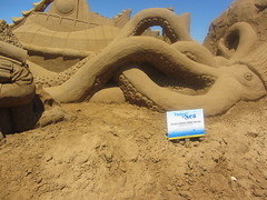 Under the Sea, Frankston Sand Sculptures, 2012 (d.kevan) Tags: 20000leaguesunderthesea giantsquid underthesea sandsculptures frankston victoria 2012 seacreatures