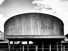 (Delay Tactics) Tags: slovenia ljubljana circular building concrete brutal brutalist brutalism concert hall kino šiška siska black white blackandwhite bw