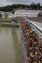 Covered in Locks (noname_clark) Tags: salzburg austria vacation europe fence salzachriver water river lock many