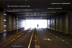 Into The Brightness (CoolMcFlash) Tags: street streetphotography vienna person silhouette light tunnel canon eos 60d strase wien kontur licht hell tube fotografie photography tamron b008 18270 city stadt