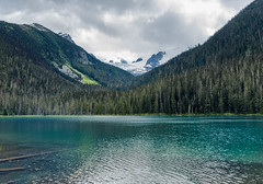Joffre's Lake (lsoaadi) Tags: lake wilderness hike forest nature aqua mountains clouds joffre bri britishcolumbia whistler pemberton landscapes rain trees