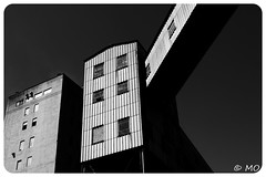 Deposit (mathieuo1) Tags: canada montreal deposit warehouse building architecture metal composition city up blackandwhite bnw nikon wideangle work design contrast tone graphic fineart street scape perspective angle mathieuo