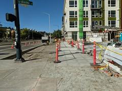 New sidewalk open on MLK and Alaska (Seattle Department of Transportation) Tags: seattle sdot transportation donghochang new sidewalk open mlk alaska construction walking improvements orange cones poles