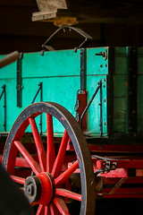 Colorful wagon - Hagood Mill, Pickens, S.C.