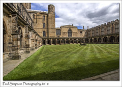 Durham Cathedral Cloisters (Paul Simpson Photography) Tags: durhamcathedral cloisters cloister religion church cathedral durham paulsimpsonphotography imagesof imageof photoof photosof grass religious summer sonya77 june2018 history englishhistory england uk building sky clouds architecture