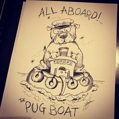 Day 8 (Lynn Adams Illustration) Tags: inktober 2018 dog breeds puppy pug cartoon art pen ink