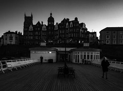 Cromer, Dusk (Bryan Appleyard) Tags: seaside pier cromer norfolk dusk hotel benches