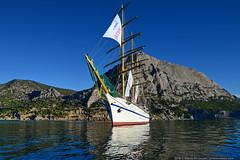 DSC_6525 (yuhansson) Tags: фрегат херсонес море чёрное парусник крым паруса парус корабли корабль путешествие путешествия югансон юрий boat sea sky water vessel ship sailing новыйсвет судак
