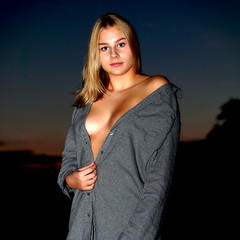 a bit of skin (matthiasschwark) Tags: young girl woman portrait blond tanned breast hidden outdoor bottrop kirchhellen