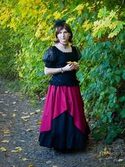 Autumn stroll (blackietv) Tags: princess black red long dress tgirl transvestite crossdresser crossdressing transgender outside outdoor
