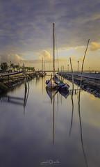 Ria de Aveiro, Golden Hour (paulosilva3) Tags: sunset golden hour colors boats water lake moliceiro canon manfrotto lowepro ria de aveiro portugal