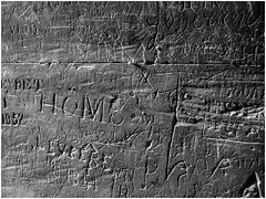 Years of Graffiti, Arles Amphitheatre (bobbex) Tags: bw blackwhite stone writing france