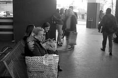 Terminal (mavricich) Tags: monocromo monocromático misiones monochrome ricoh rangefinder retro old gente street sombreros kodak tmax r09 iguazu stret calle en la foto argentina people