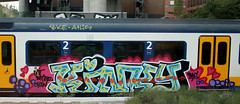 traingraffiti (wojofoto) Tags: treingraffiti trein traingraffiti train amsterdam graffiti streetart nederland netherland holland wojofoto wolfgangjosten kinky