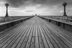 Clevedon Pier (northcountrygirl) Tags: clevedon pier blackandwhite monochrome bw longexposure seaside sigma1020