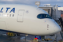 A350 (Ychocky) Tags: 50mmf18 airbusa350941 dtw deltaairlines detroitmetropolitanwaynecountyairport kdtw n504dn nikkor