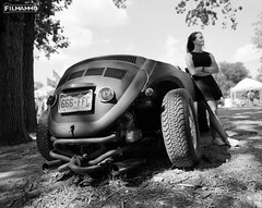 Chopped Beetle (FilmAmmo) Tags: paulhargett filmammo haysks hotrod film pentax6x7 ratrod mediumformat carshow beetle fuji acros